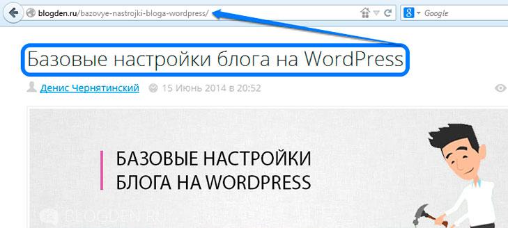 постоянные ссылки wordpress