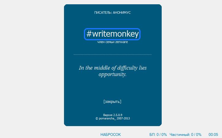 write monkey