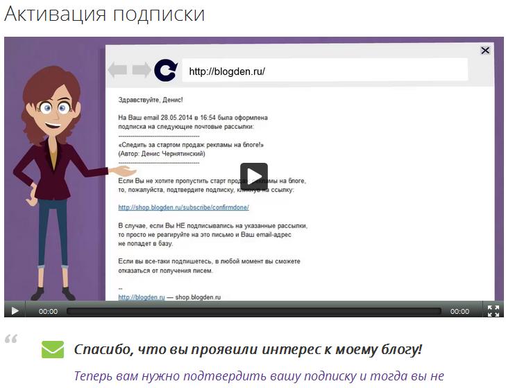 Активация подписки blogden.ru