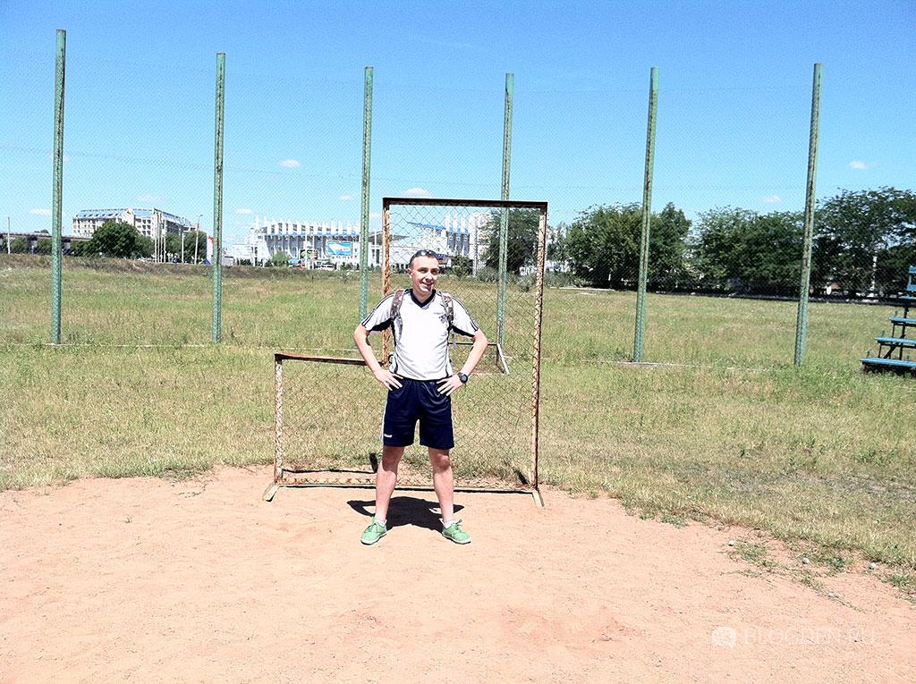 Денис на бейсбольном поле