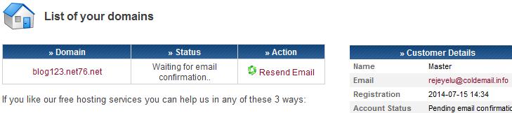активация по e-mail