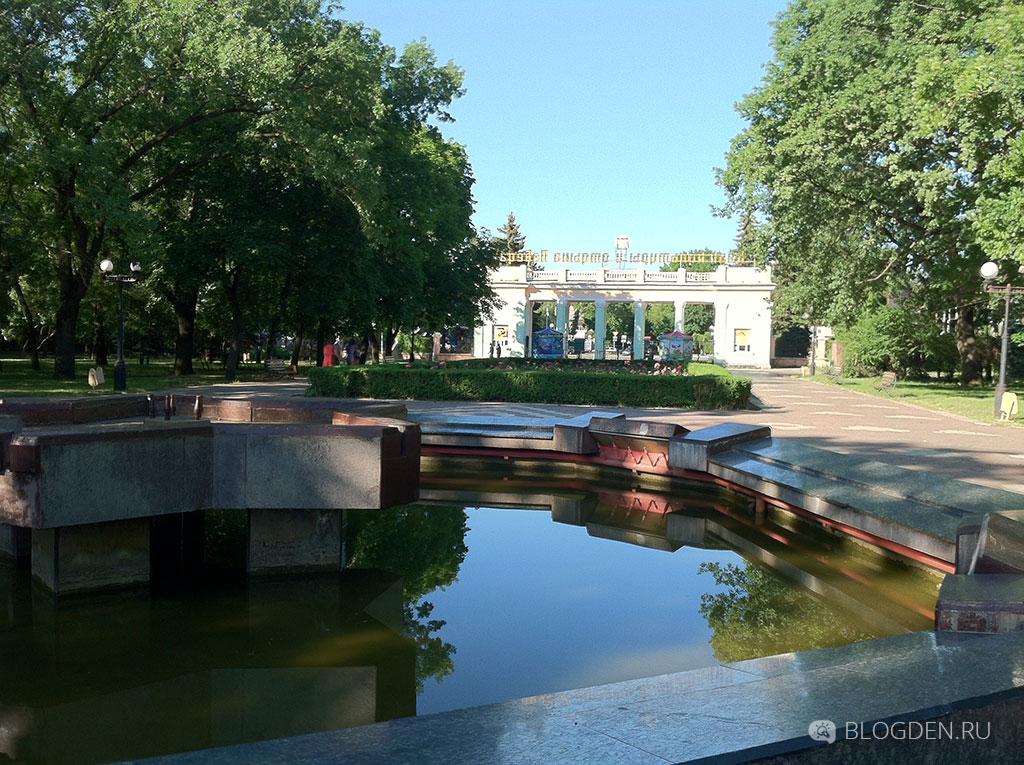 фонтан в парке победа