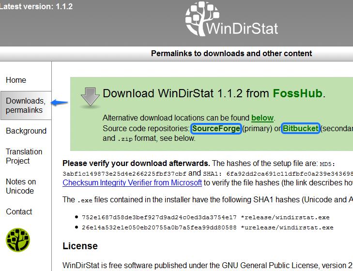Загрузка программы WinDirStat