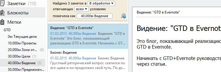 Мое видение для проекта GTD+Эверноут